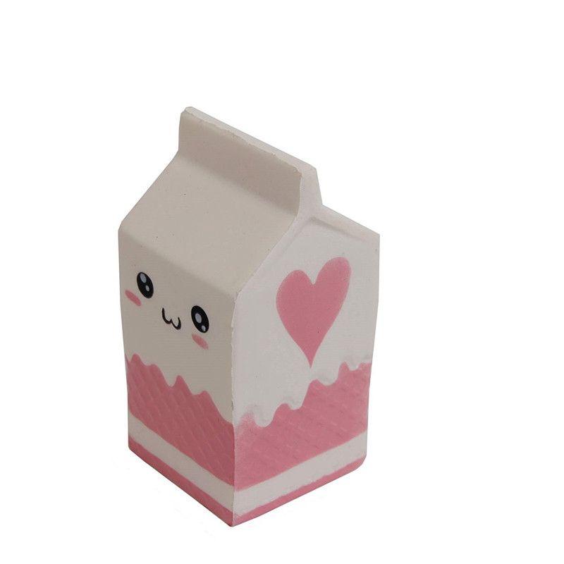SQUISHY-Cutie de lapte-alb-Jucarie cu revenire lenta la forma initiala
